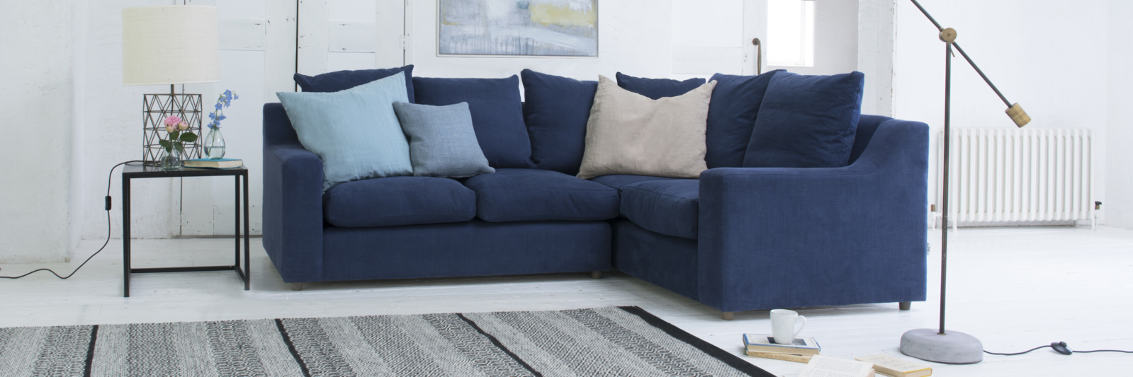 Beautiful contemporary cloud corner L shape sofa