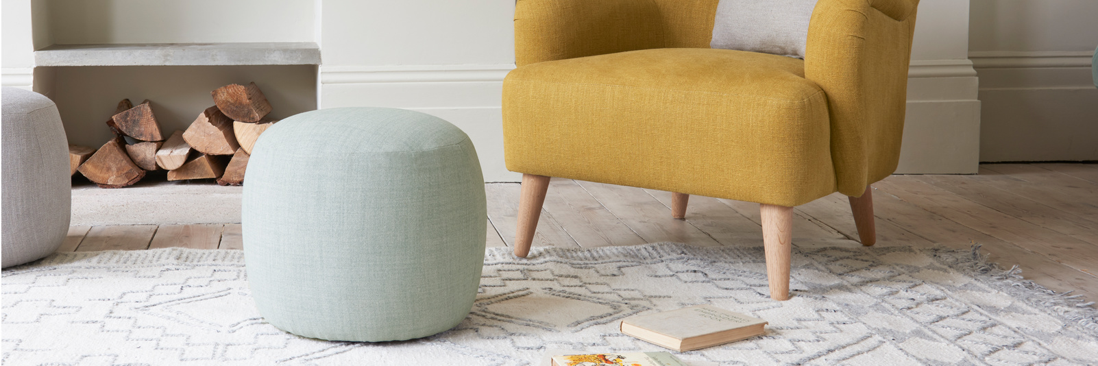 Little Cheese rounded pouffe