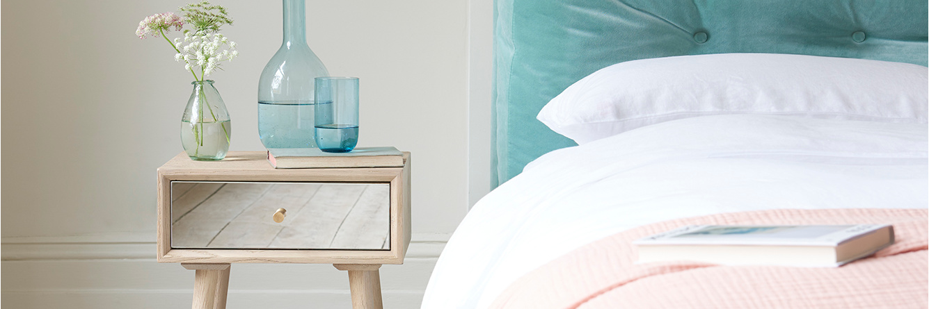 Little Trixie mirrored bedside table