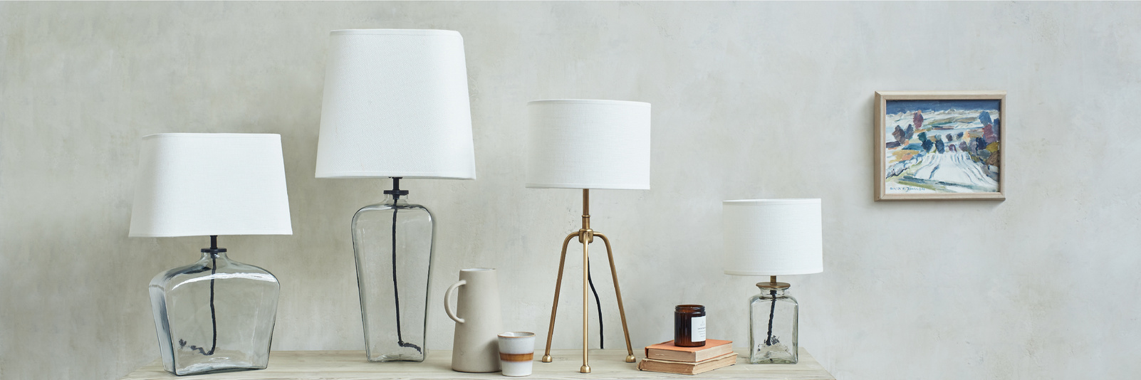 Table lamp range