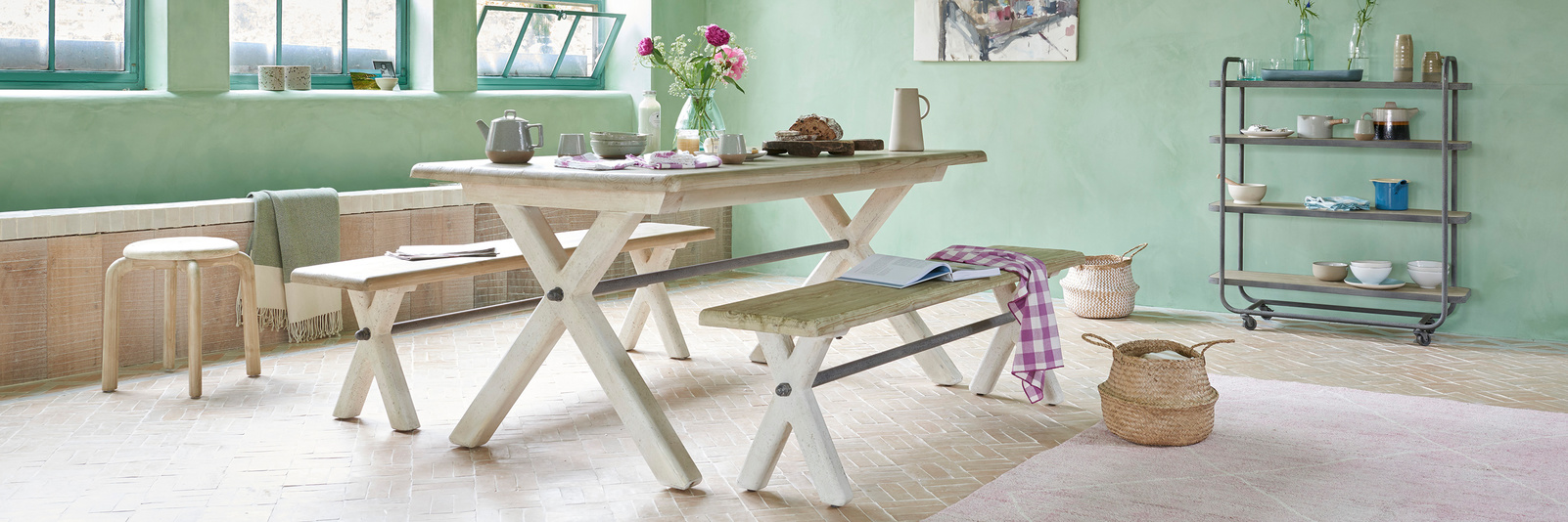 Feast Wooden Farmhouse Kitchen Table
