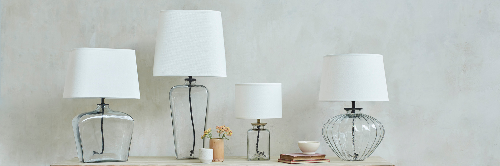 Glass Based Table Lamp Range