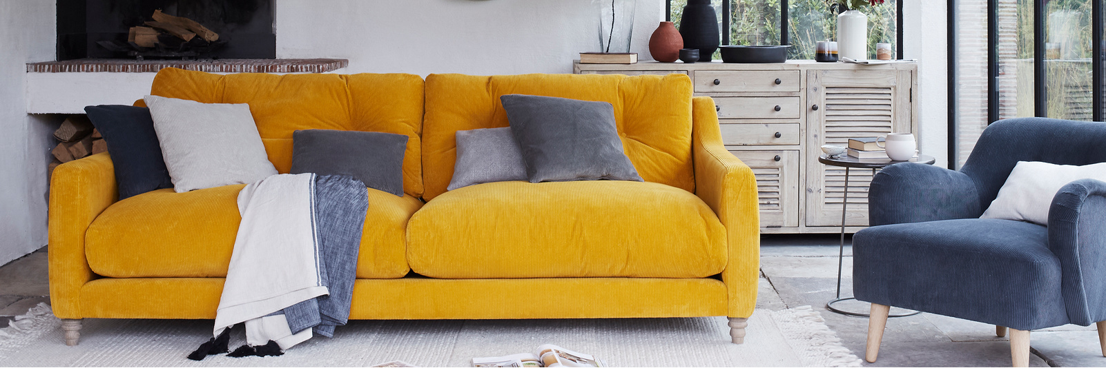 Slim Jim corduroy sofa