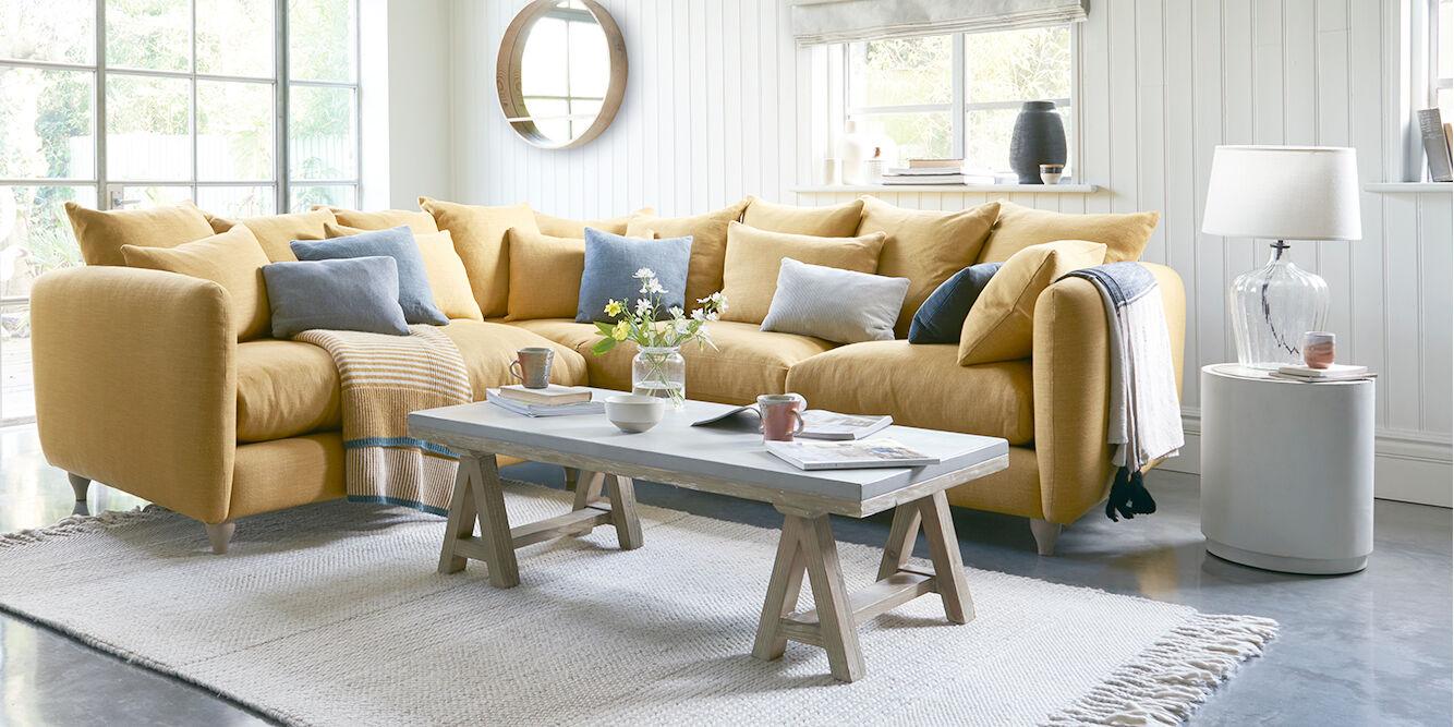 Podge Fabric Scatter Cushion Back Corner Sofa