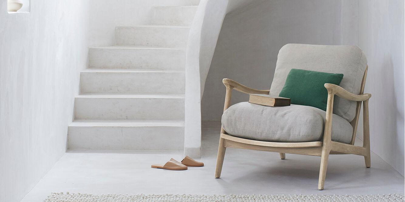 Squishbag rattan armchair with cushion