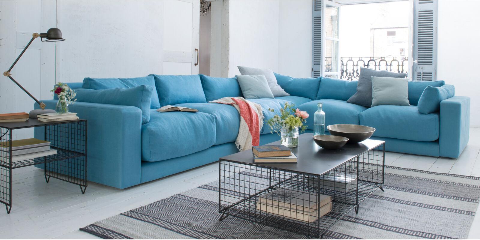 Atticus comfy British-made corner sofa