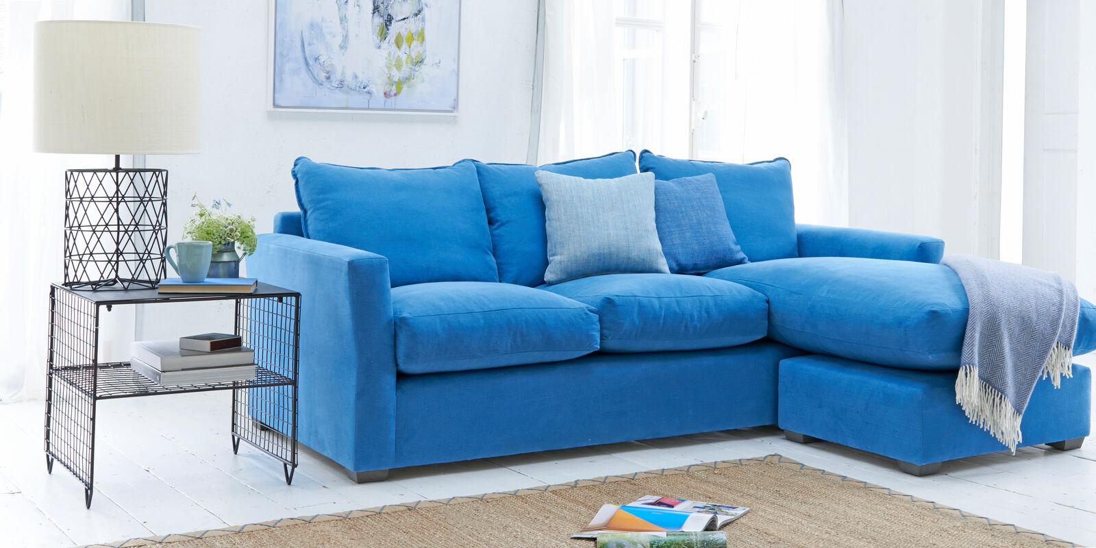 Contemporary pavilion British made L shape corner sofa
