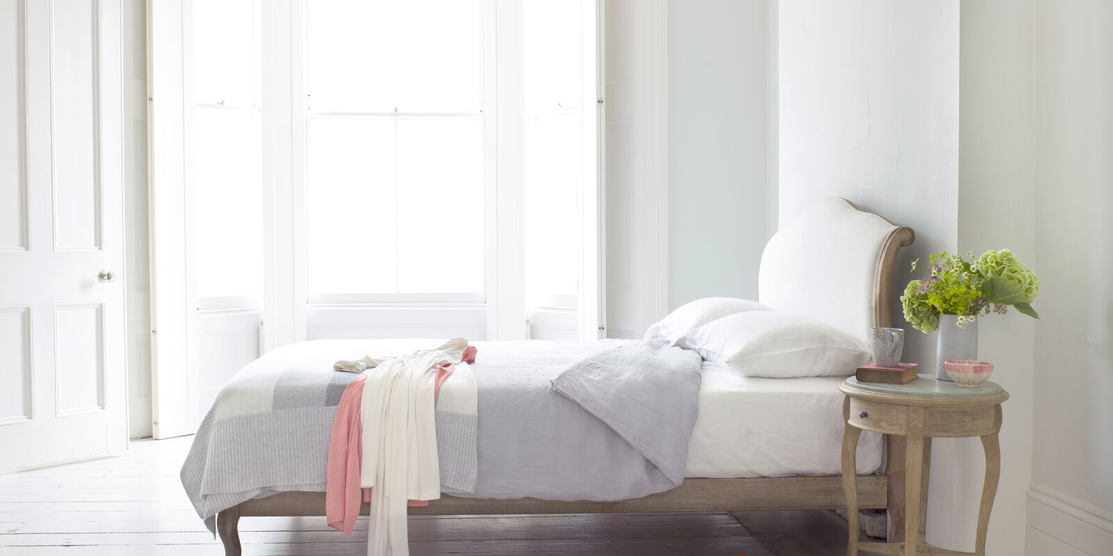 Coco - double French bed handmade from weathered oak