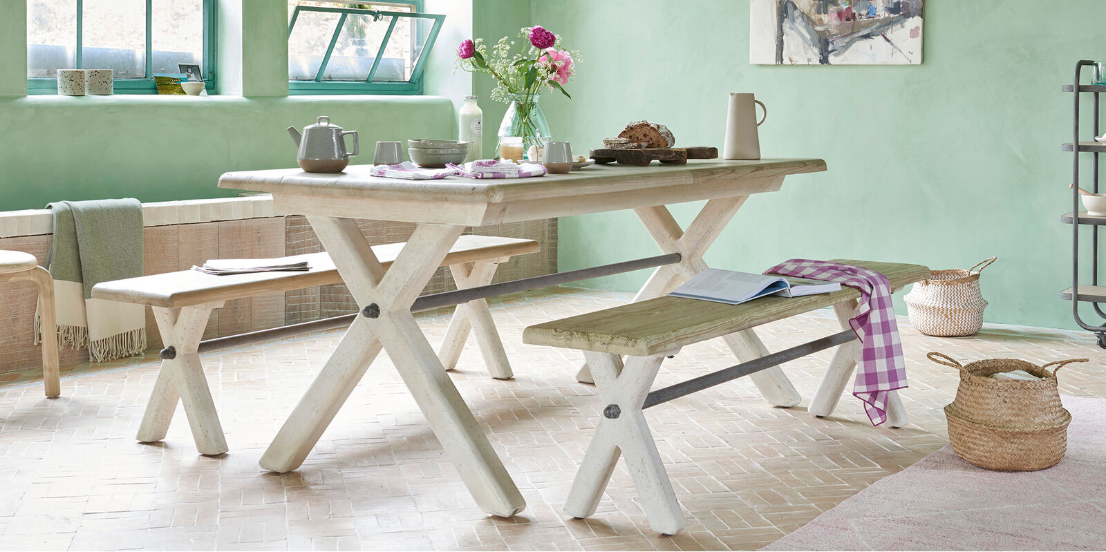Feast Wooden Farmhouse Kitchen Table