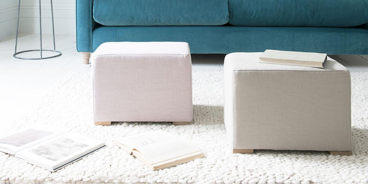 Pow Wow mini fabric footstools