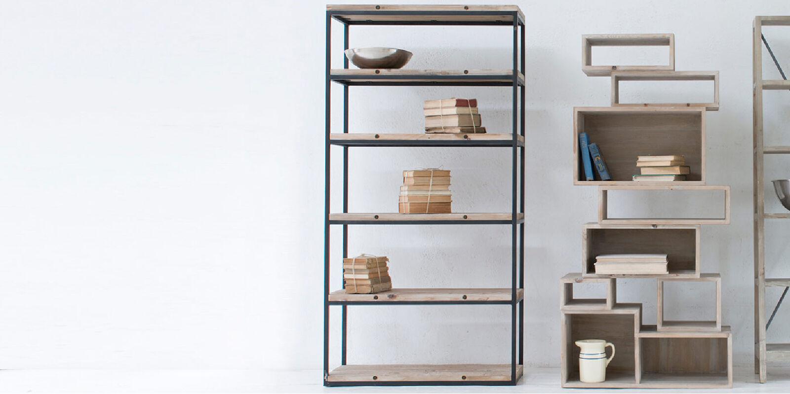Range of free standing shelves
