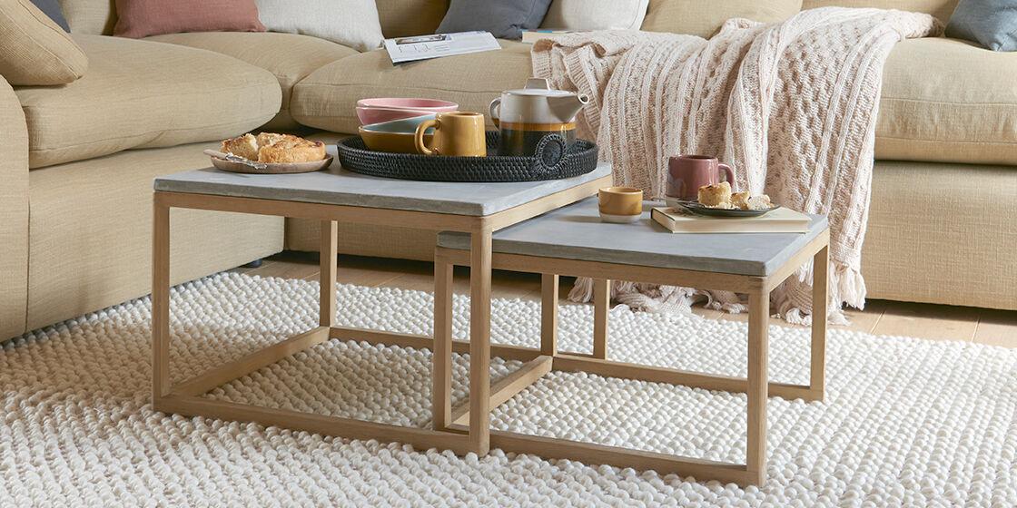 Slider modern wooden coffee table