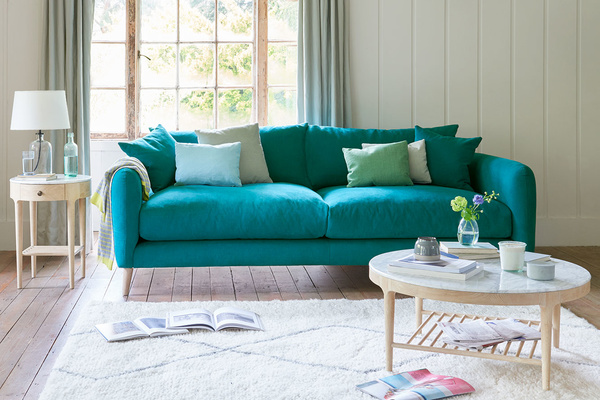 Squishmeister squishy upholstered sofa