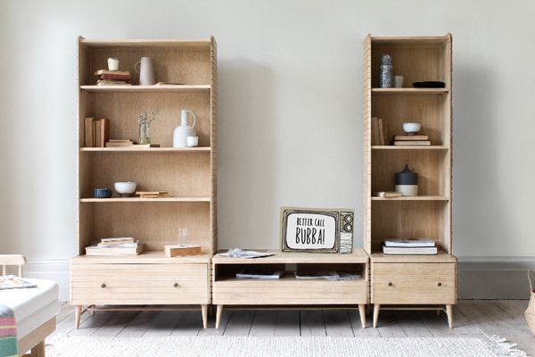 Bubba modular shelving unit with TV
