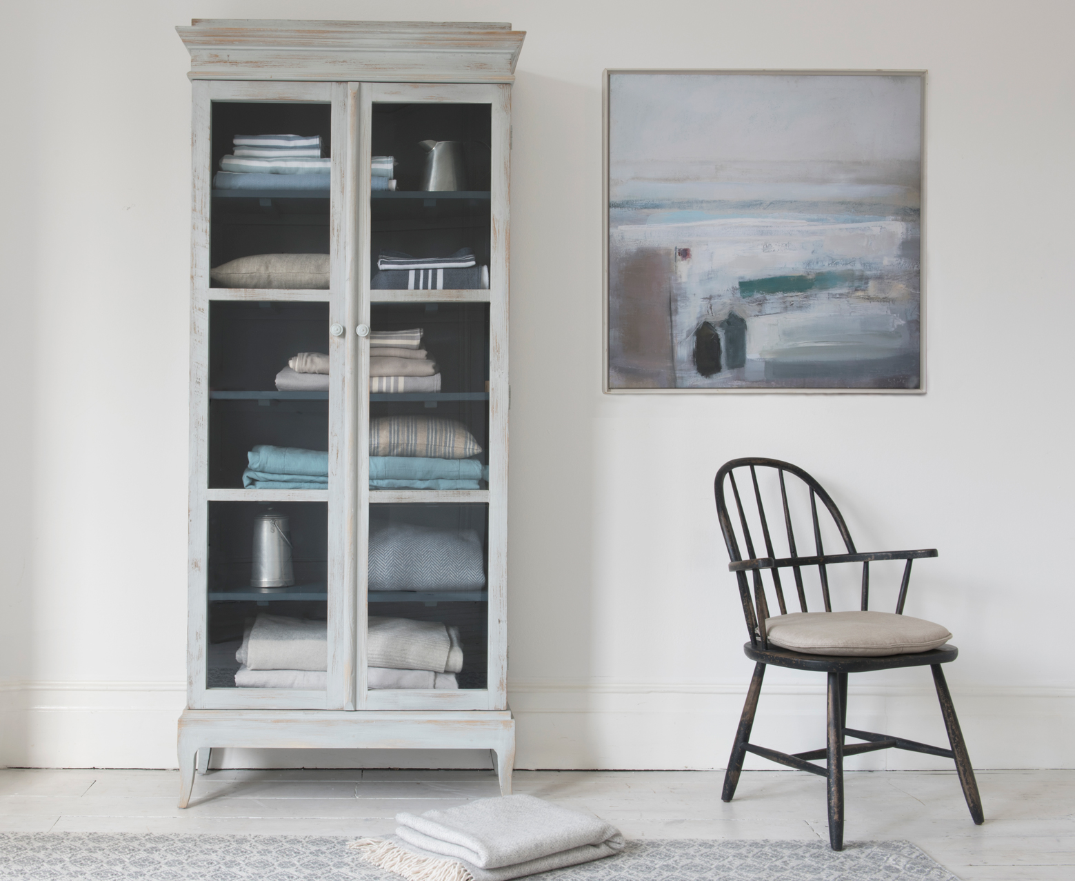 Flummery Storage Cabinet Glass Door Cupboard Loaf