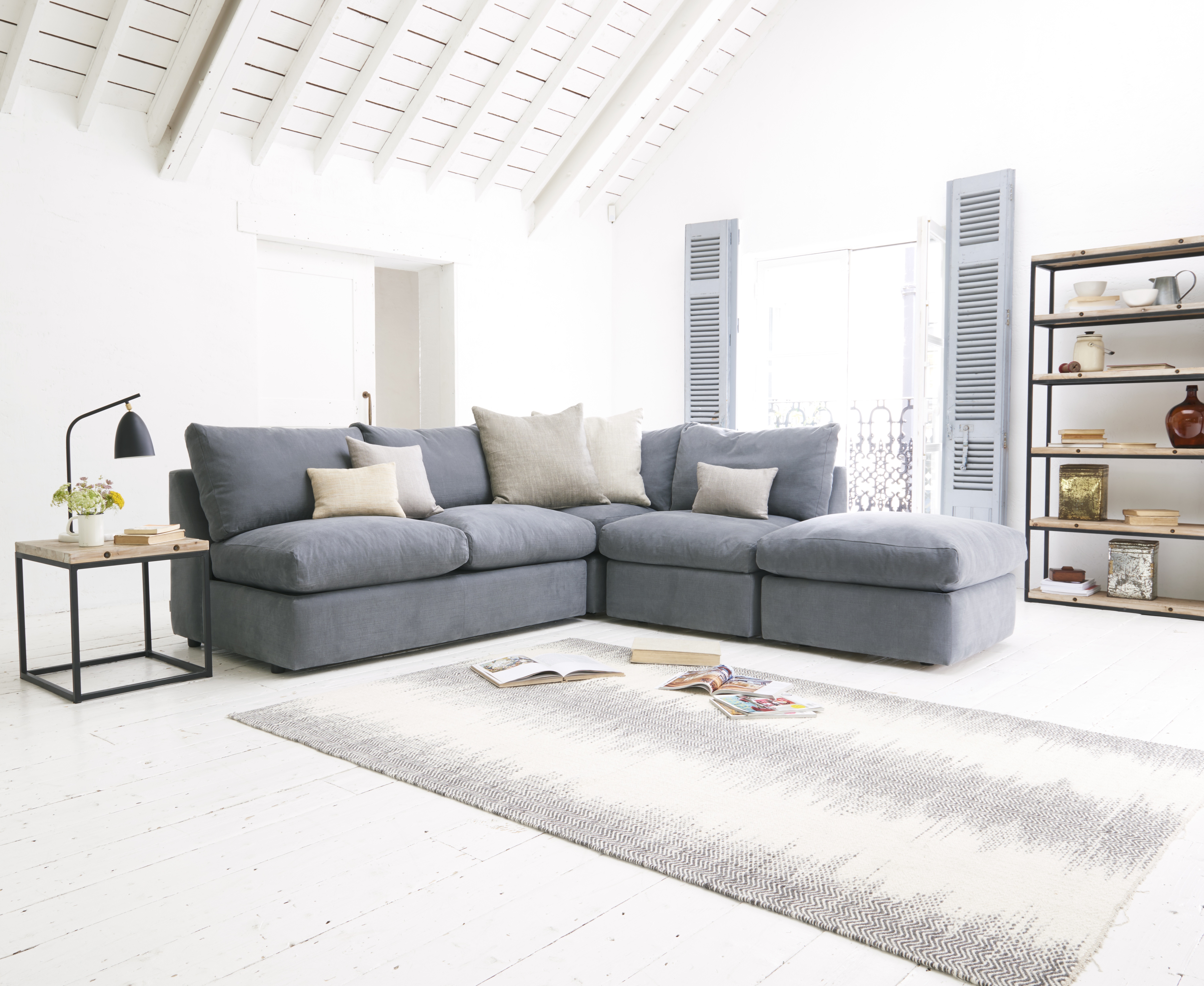 reputable site 54e5c 552c9 Large left hand Chatnap modular corner storage sofa in Thatch house fabric