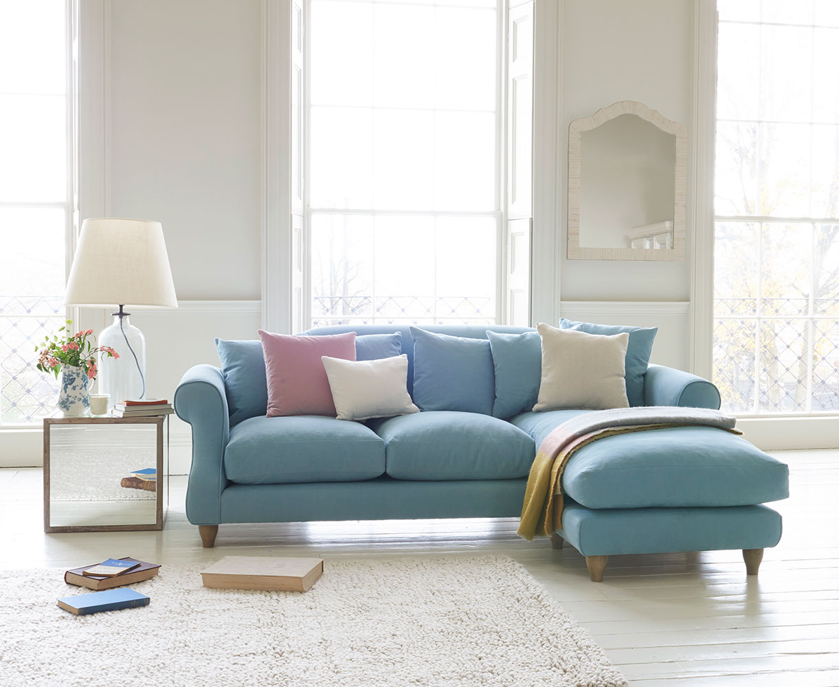 Sloucher Chaise Sofa Comfy Fabric