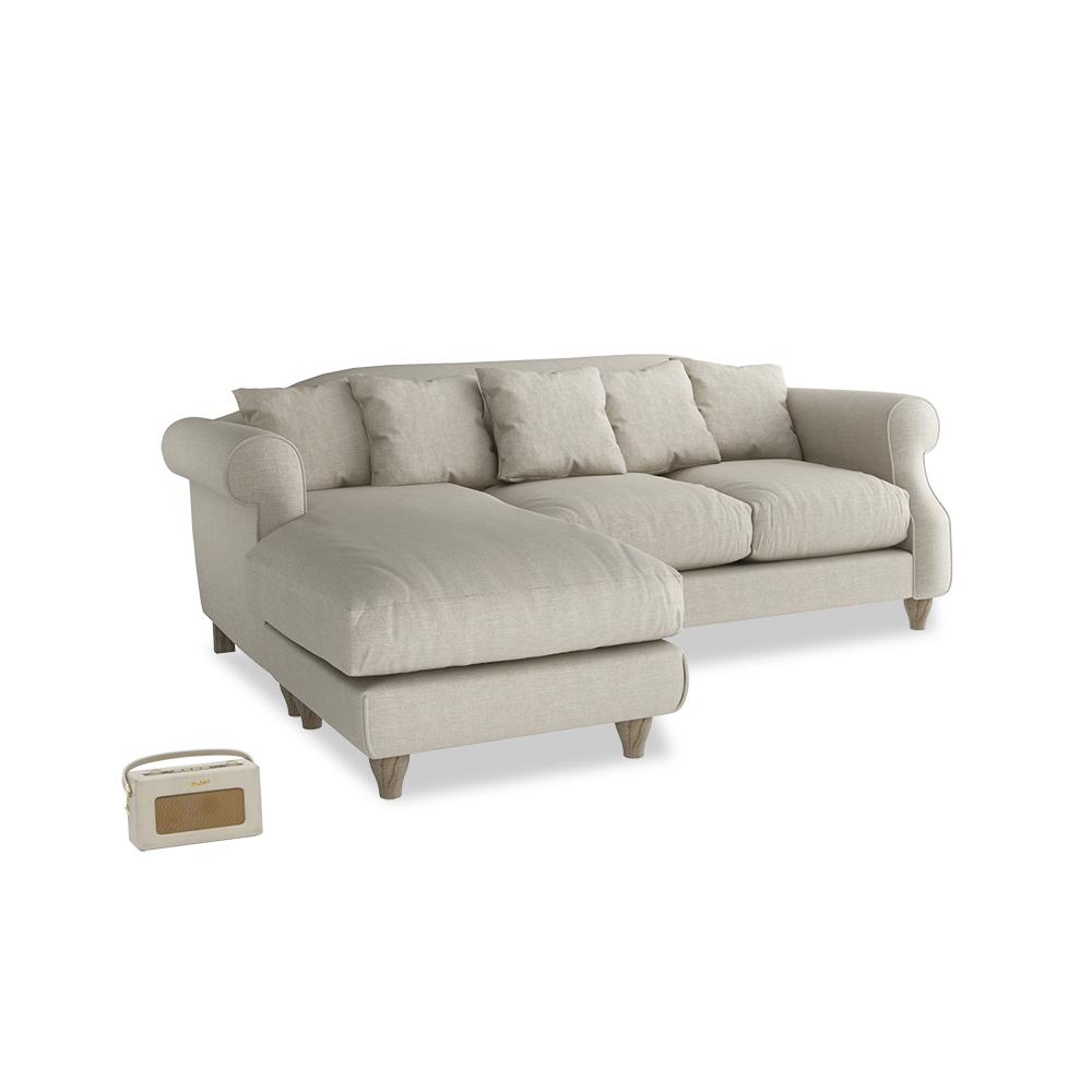 Sloucher Chaise Sofa | Comfy Fabric Sofa | Loaf