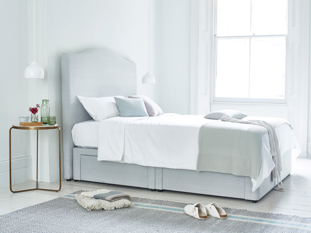 Picture of: Tall Luna Headboard Curved French Headboard Loaf