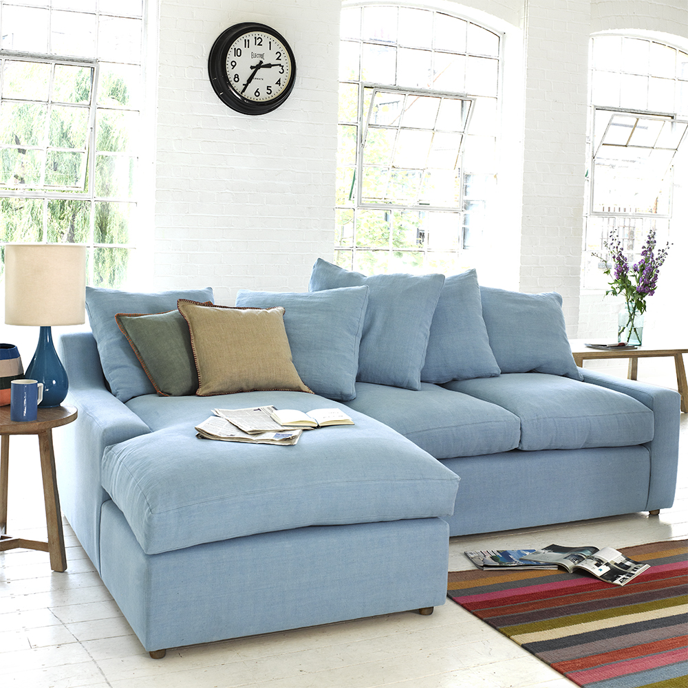 Excellent Large Left Hand Cloud Chaise Sofa In Thatch House Fabric Short Links Chair Design For Home Short Linksinfo