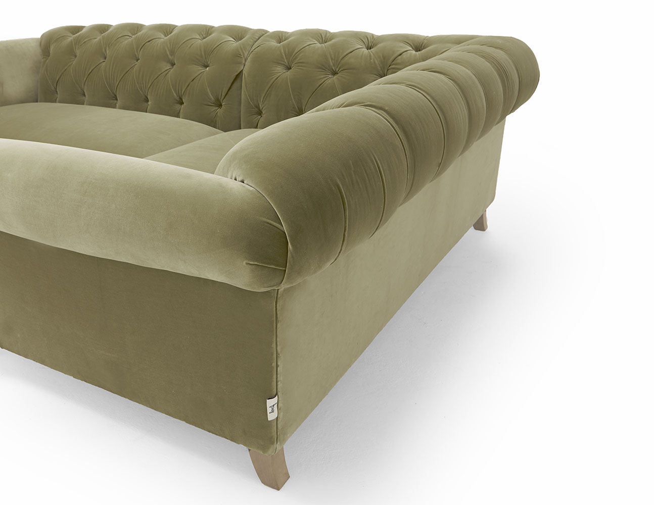 Large Left Hand Dixie Corner Sofa in Thatch house fabric
