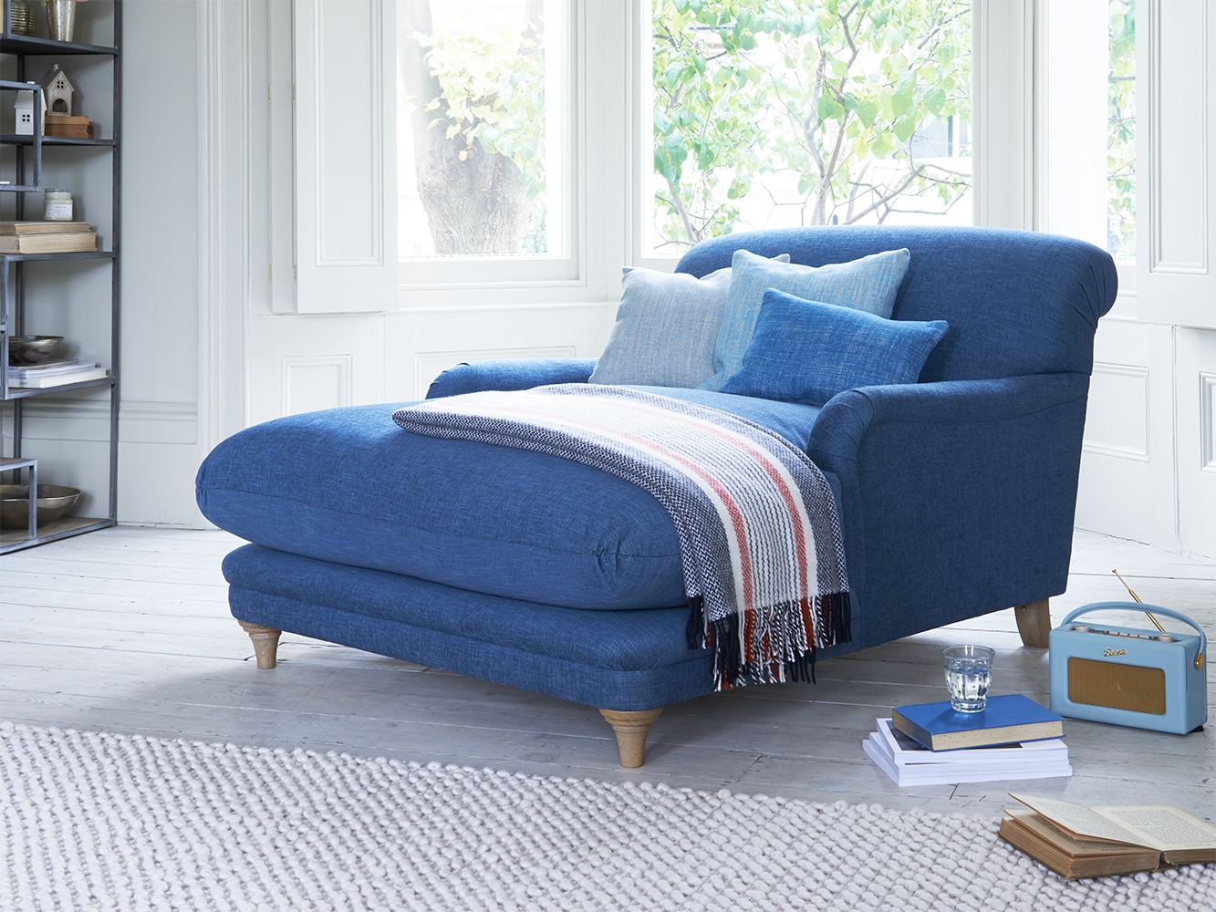Astonishing Pudding Love Seat Chaise In Thatch House Fabric Squirreltailoven Fun Painted Chair Ideas Images Squirreltailovenorg