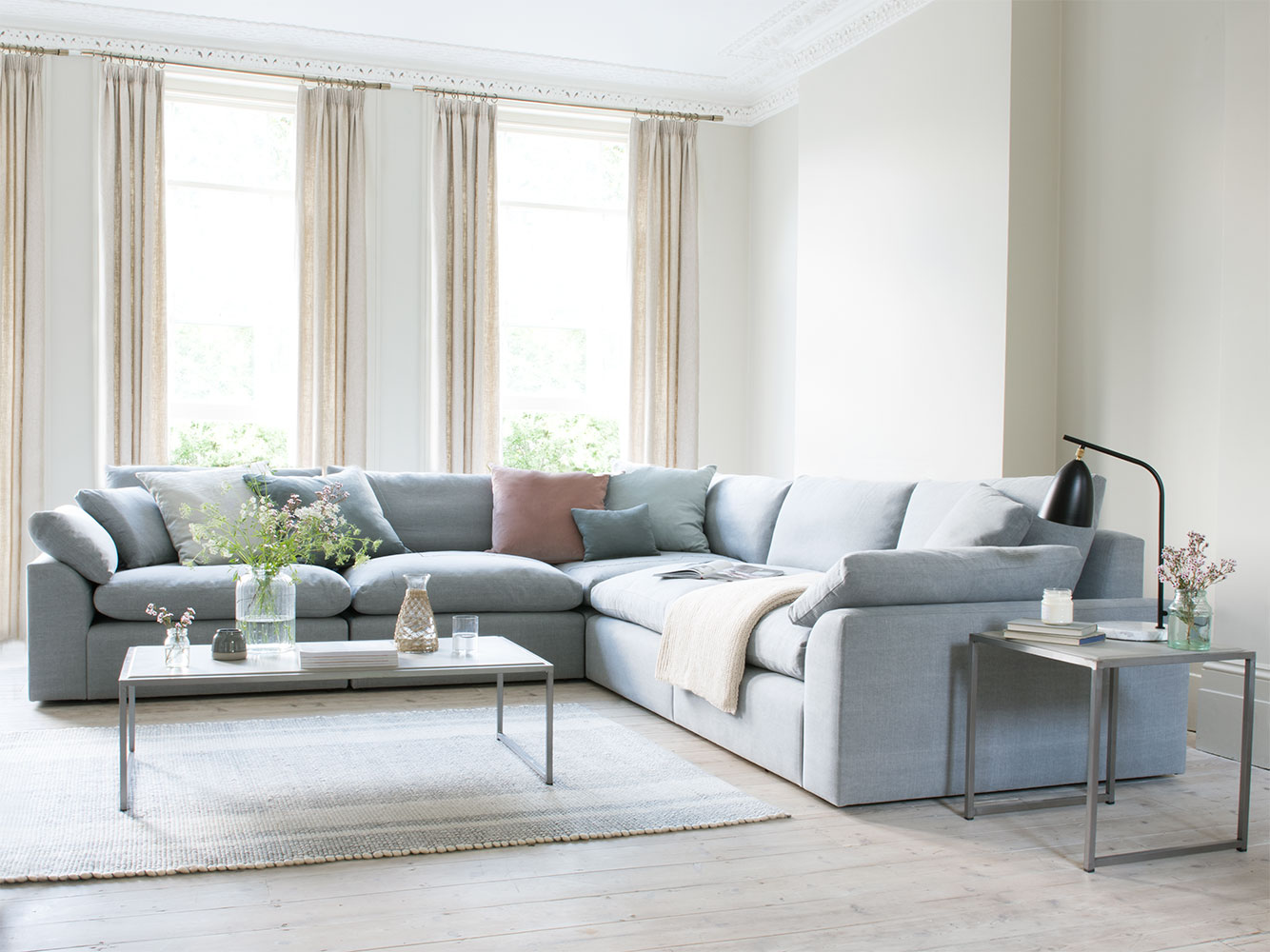 cuddle muffin sectional sofa