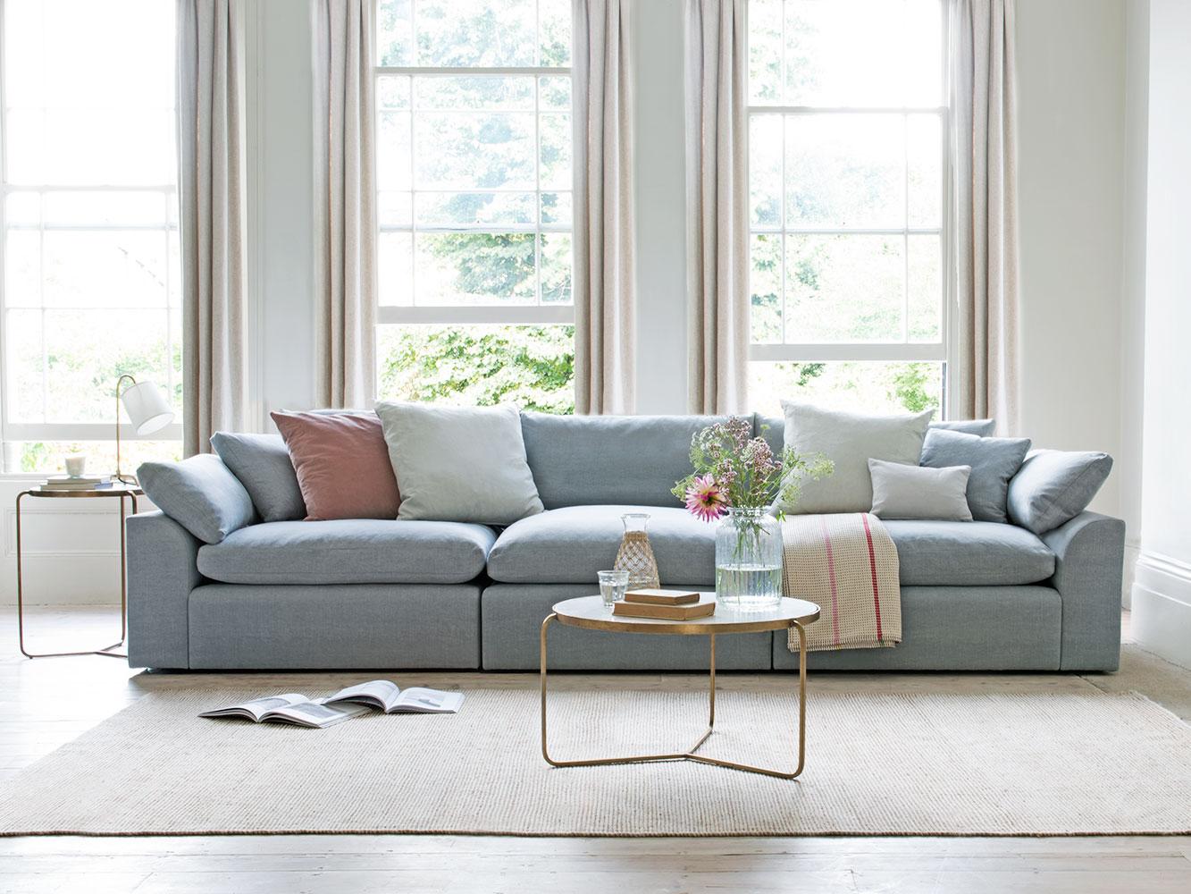 Medium Cuddlein Modular Sofa In Thatch House Fabric