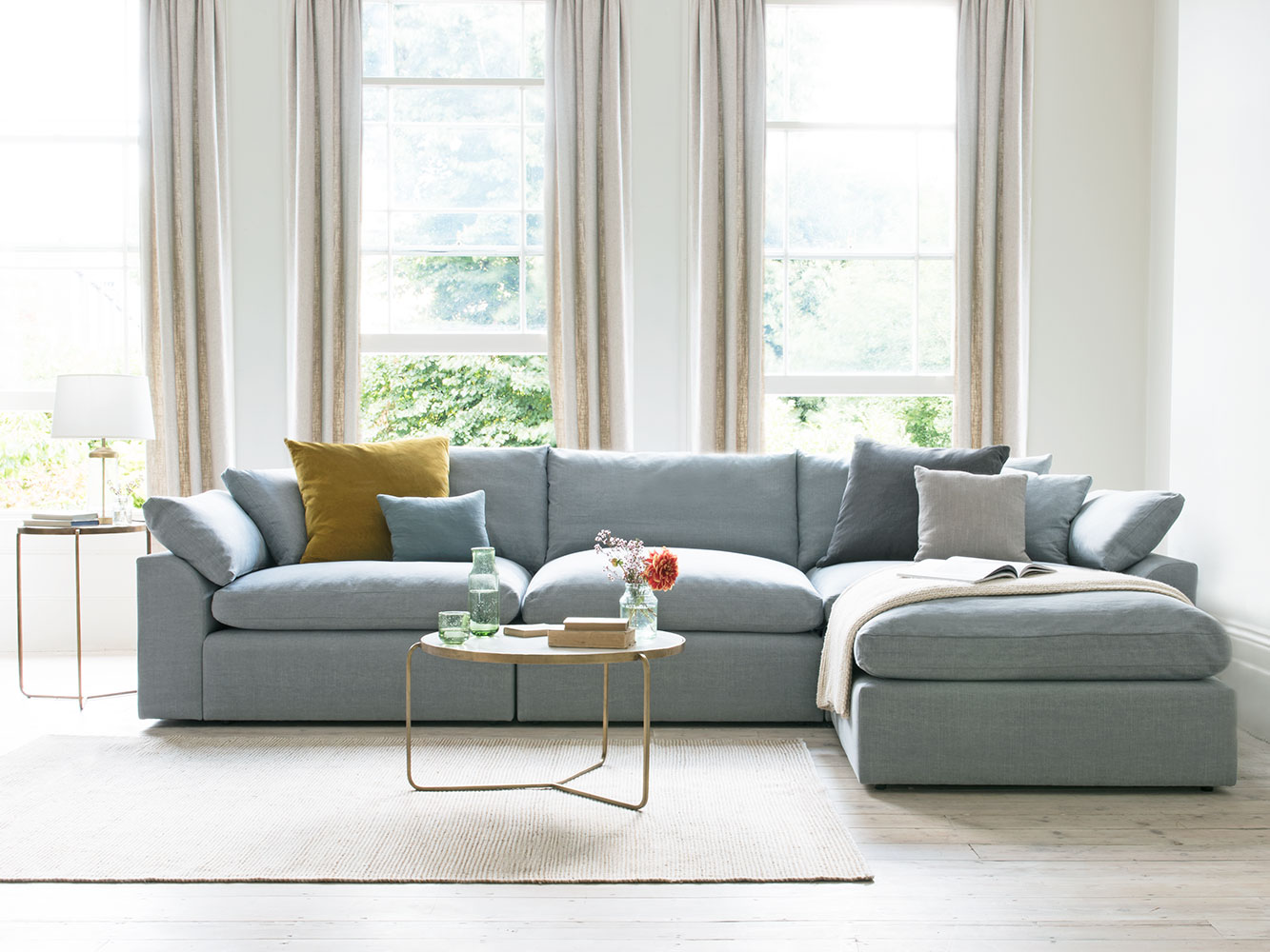 cuddle muffin sectional corner sofa