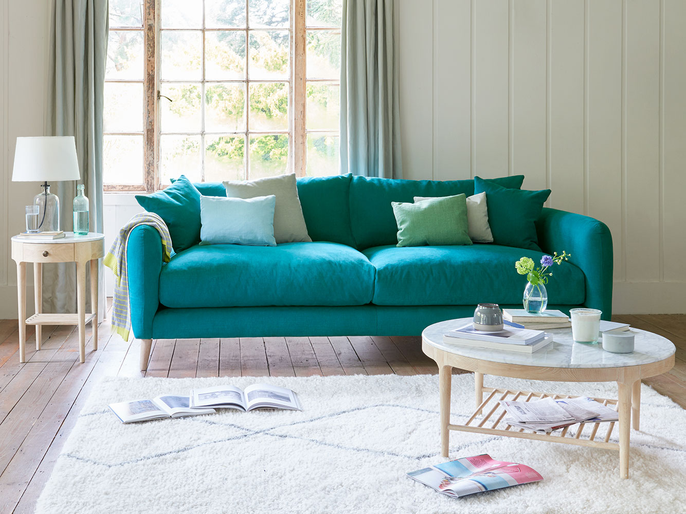 Small Squishmeister Sofa In Thatch House Fabric