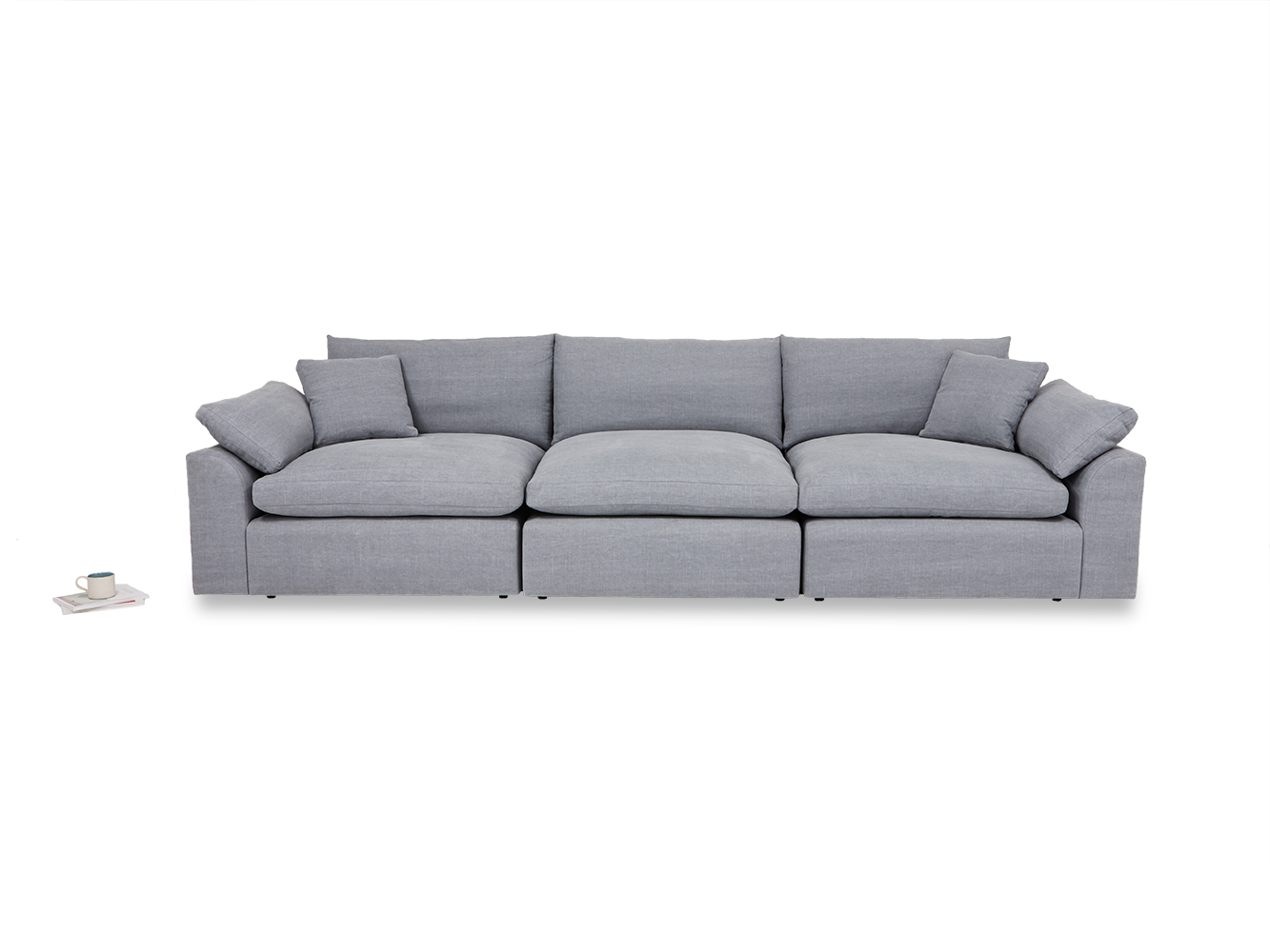 cuddle muffin sectional sofa front detail