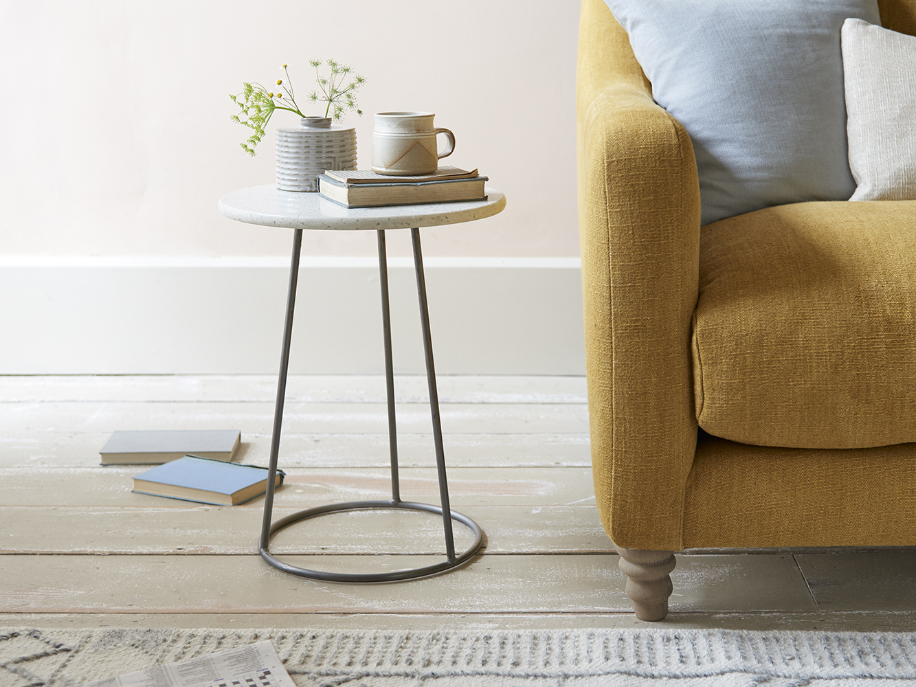 Little Scamp Side Table Terrazzo Top, Little Tables For Living Room
