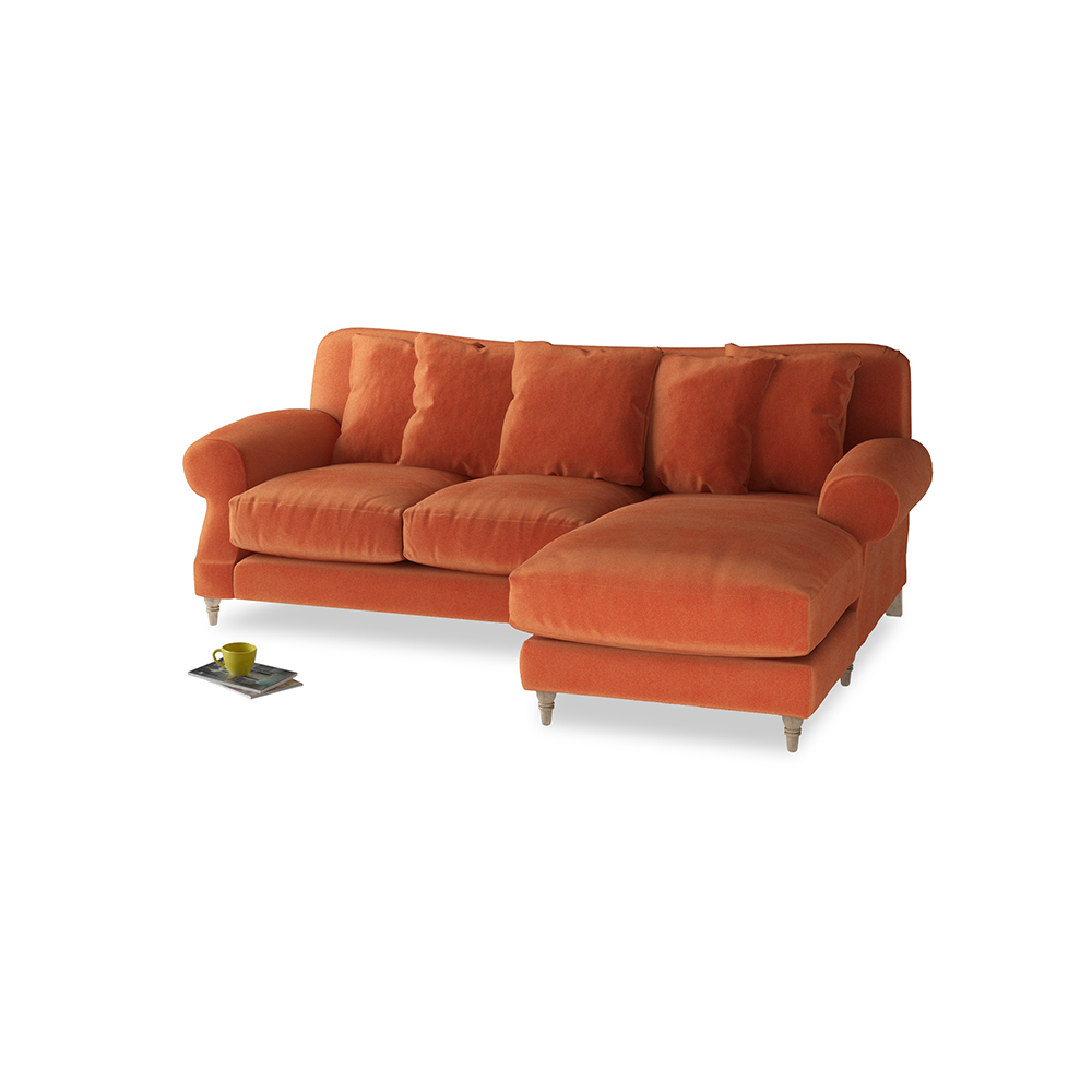 Crumpet Chaise Sofa   Deep Comfy Chaise   Loaf