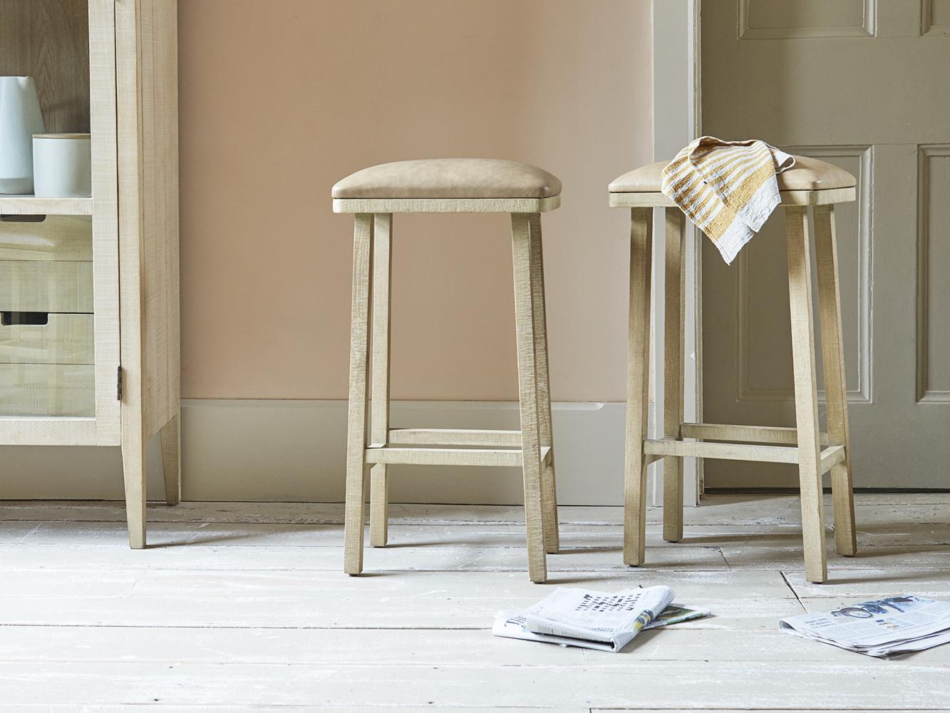 tall bumpkin kitchen stool  leather bar stool  loaf