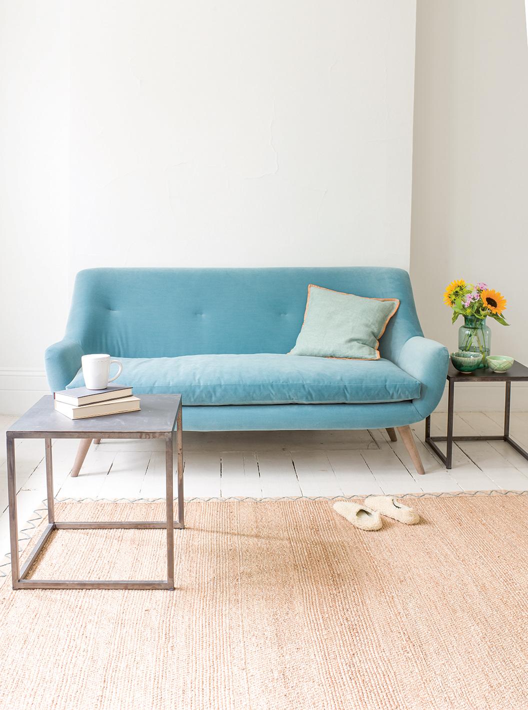 Fine Small Berlin Sofa In Thatch House Fabric Theyellowbook Wood Chair Design Ideas Theyellowbookinfo