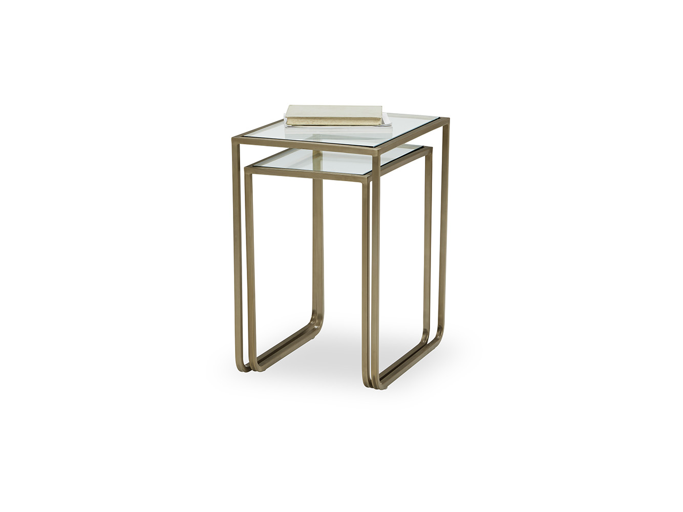 Shimmy Gl Top Side Table Modern