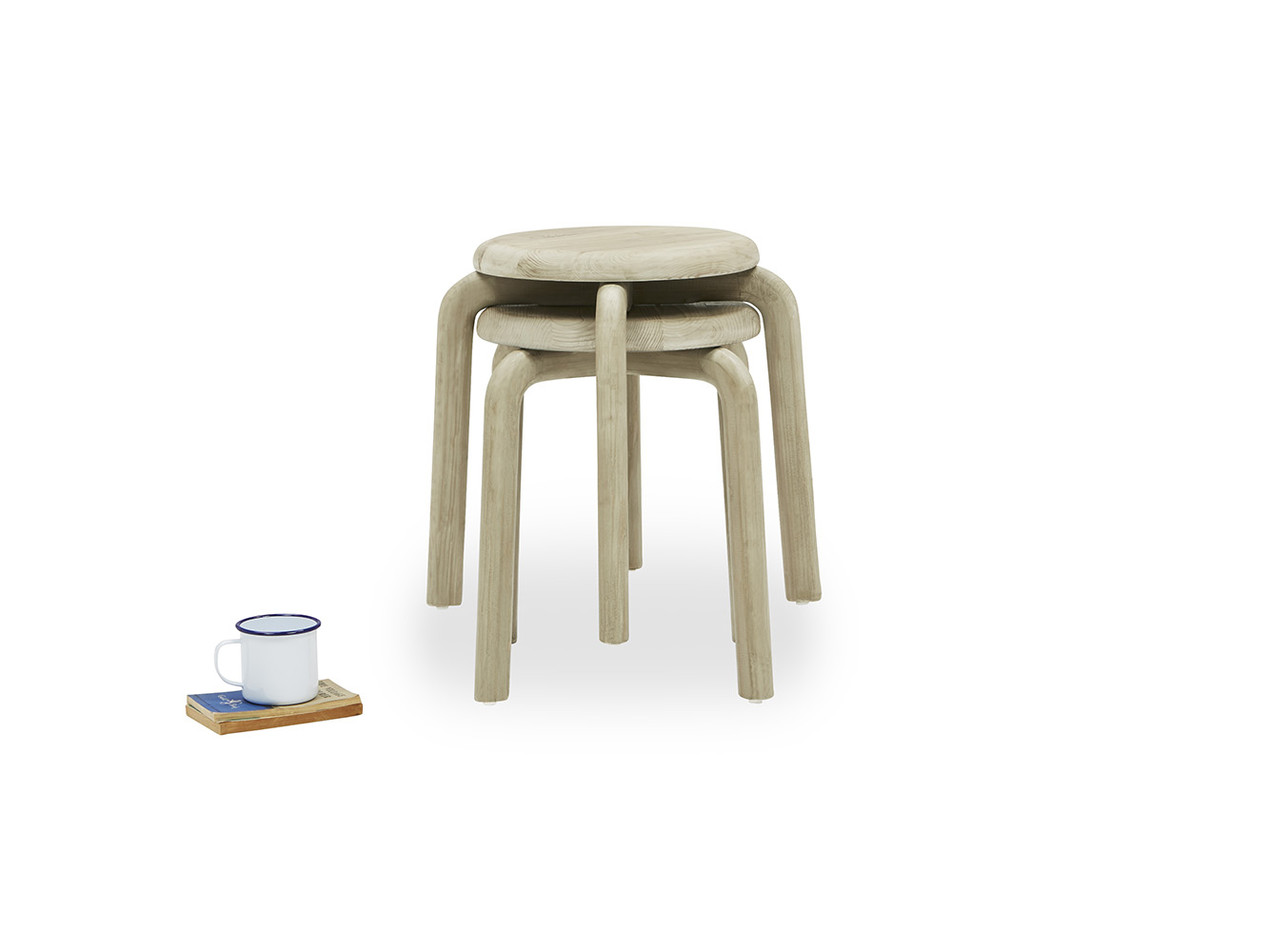 Pleasant Pair Of Stacker Stools Ncnpc Chair Design For Home Ncnpcorg