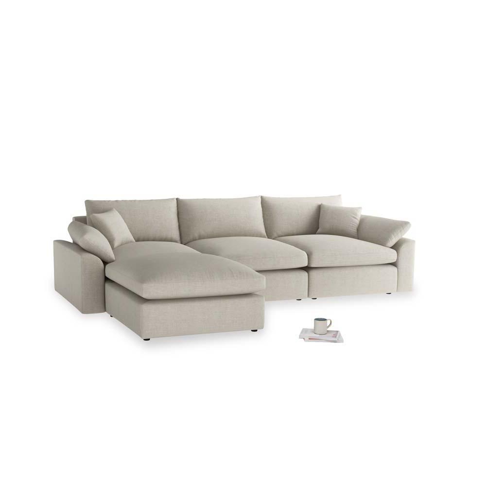Astonishing Large Left Hand Cuddlemuffin Modular Chaise Sofa In Thatch House Fabric Short Links Chair Design For Home Short Linksinfo