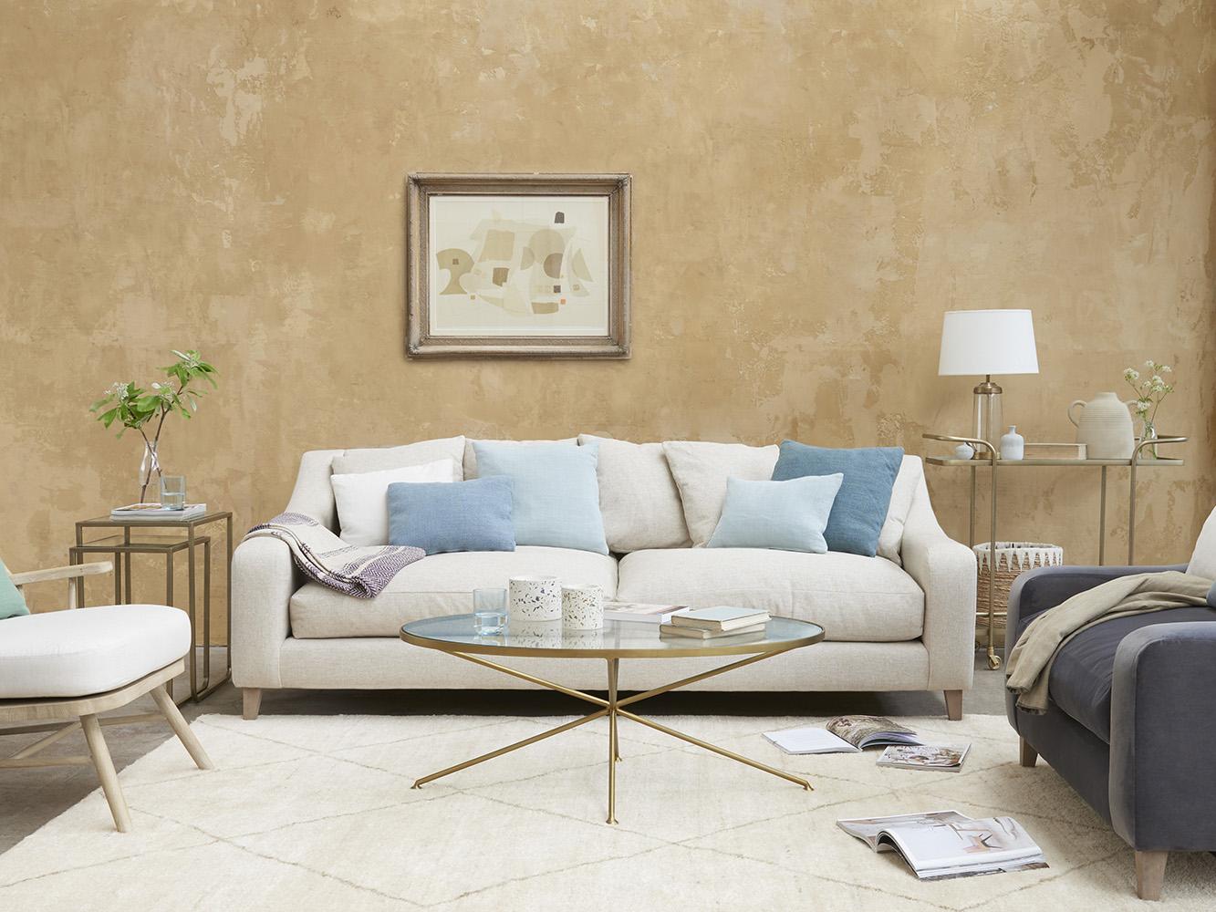 Small Oscar Sofa In Thatch House Fabric