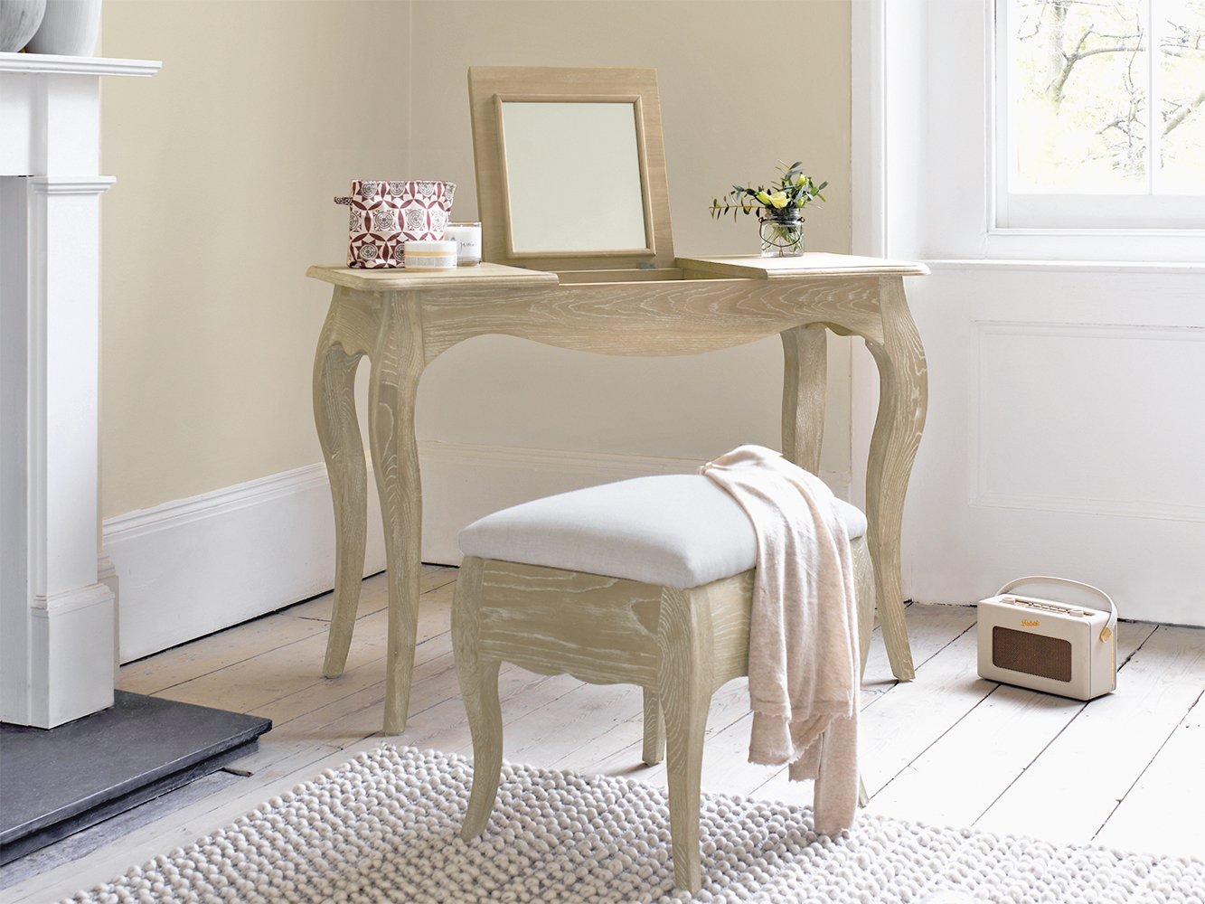 Weathered Oak Dressing Table Thelma Loaf