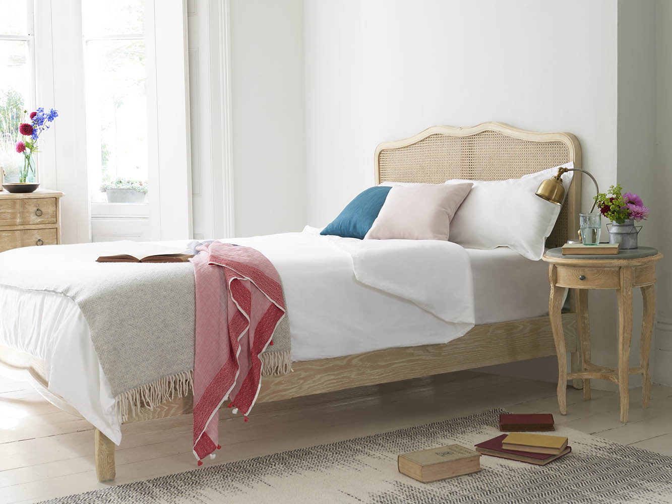 Margot Bed Rattan French Bed Loaf