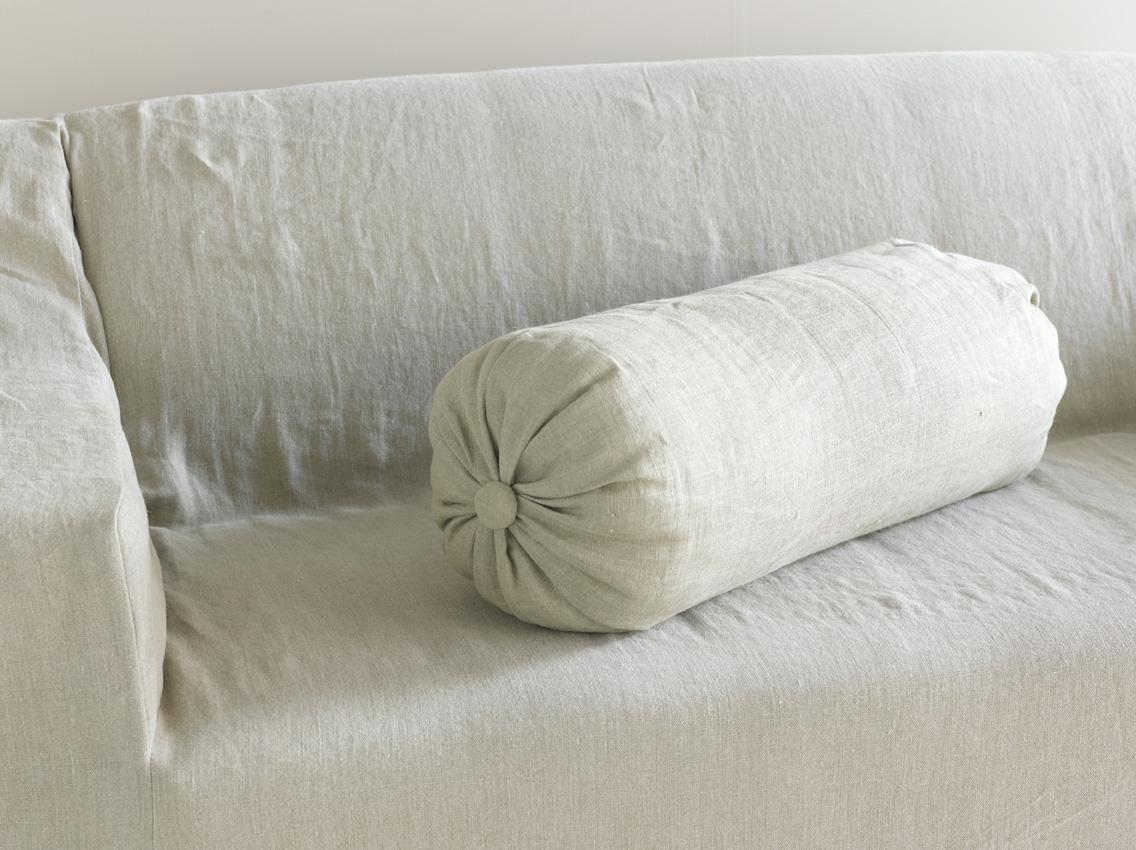 Handmade Linen Cushions Bolster Loaf
