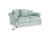 Small Sloucher Sofa in Gull's Egg Brushed Cotton