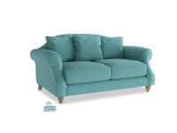 Small Sloucher Sofa in Peacock brushed cotton