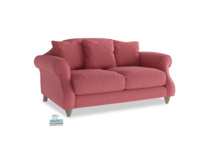 Small Sloucher Sofa in Raspberry brushed cotton