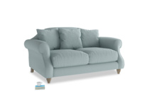 Small Sloucher Sofa in Smoke blue brushed cotton