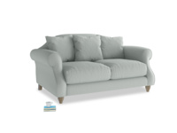 Small Sloucher Sofa in French blue brushed cotton