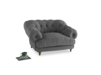 Bagsie Love Seat in Gun Metal brushed cotton