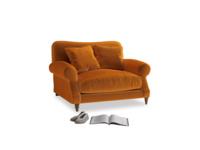 Crumpet Love seat in Spiced Orange clever velvet