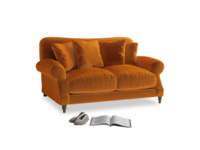 Small Crumpet Sofa in Spiced Orange clever velvet